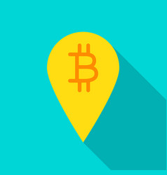 bitcoin pin flat icon vector image
