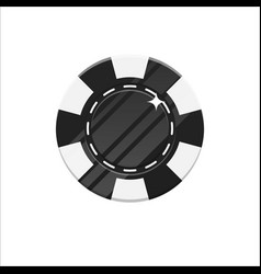 black casino chip cartoon style isolated vector image vector image