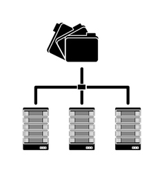 Black shared archived folders data related vector