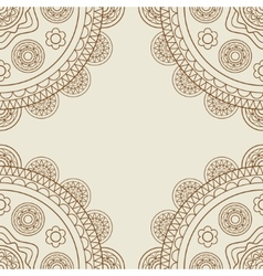 Boho floral mandalas frame vector