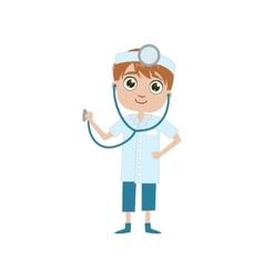 Boy Future Doctor vector image vector image