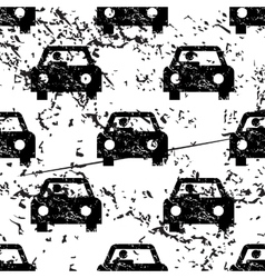 Car pattern grunge monochrome vector