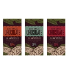 Chocolate packaging design template vector