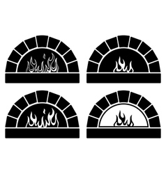 clipart set of ovens vector image vector image