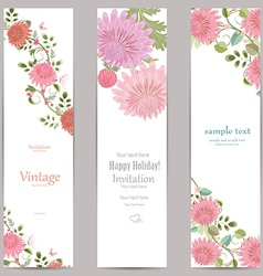 collection vertical banners with flowers for your vector image