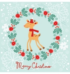 Colorful merry christmas composition with holiday vector
