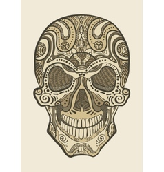 Decorative isolated human skull vector