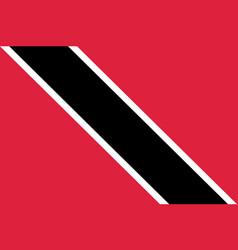 Flag trinidad flat icon vector