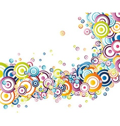 Fresh rainbow wave vector image