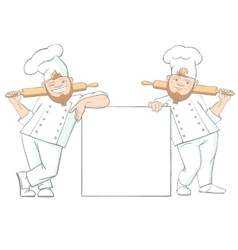 Funny baker characters vector