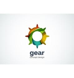Gear logo template hi-tech digital technology vector image