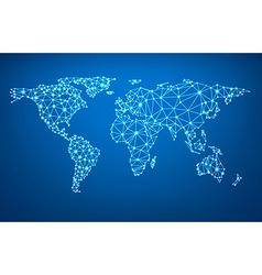 Global network mesh Earth map vector image