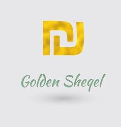 Golden sheqel symbol vector