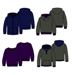 Hoodies 2 color vector