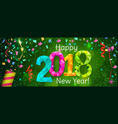 New year 2018 banner vector