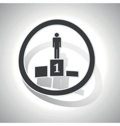 Pedestal sign sticker curved vector