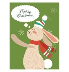 Rabbit cartoon of christmas season design vector
