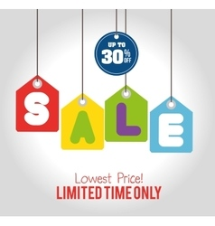 sale limited time only discount sale tags hanging vector image vector image