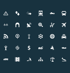 Set of simple public icons vector