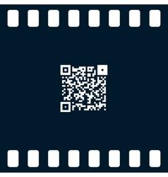Simple icon QR code vector image