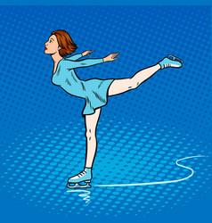 skater girl pop art style vector image vector image