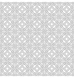 Tangled Pattern with Quatrefoils vector image