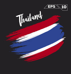 Thailand flag brush strokes painted vector