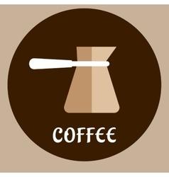 Turkish coffee copper cezve utensil vector