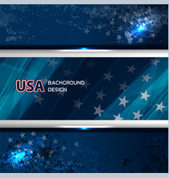 usa flag color background vector image vector image