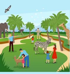 zoo cartoon background vector image