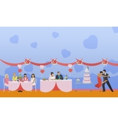Wedding ceremony design banners party vector