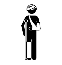 man with bandages vector image