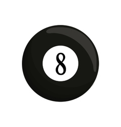 Ball black billard eight icon vector