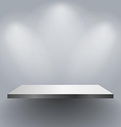 Wall shelf vector image