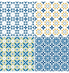 Portuguese tiles set vector image