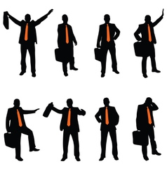 Businessman with an orange tie vector
