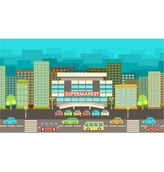 City in the style of flat design vector image