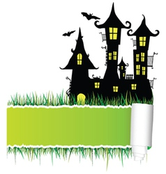 Castle with tearing paper vector