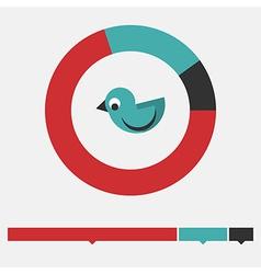 Migrant bird infographic vector image