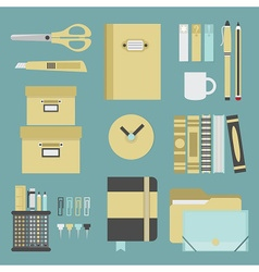 office and school stationery icon set vector image