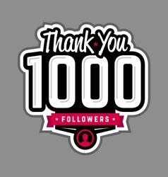 Follower thank-you badge vector