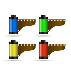 Photo film in cartridge 2 vector