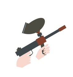 Paintball marker flat icon vector