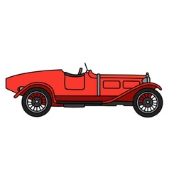 Vintage red racing car vector