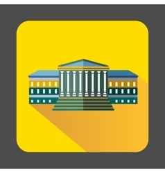 Government building with columns icon vector