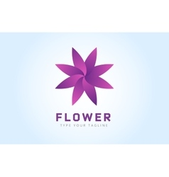 Abstract flower icon logo vector image vector image