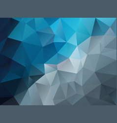 abstract polygon background blue gray vector image