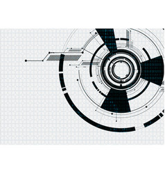 abstract technological white futuristic interface vector image vector image