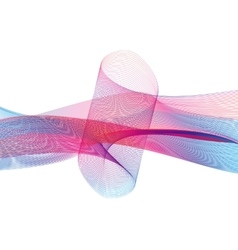 Abstract Wave Set on White Background vector image vector image