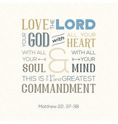 Bible quote for print or use as poster vector